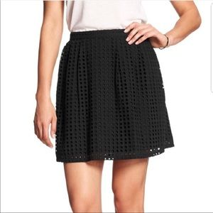 Banana Republic Eyelet Mini Black Skirt Size 8